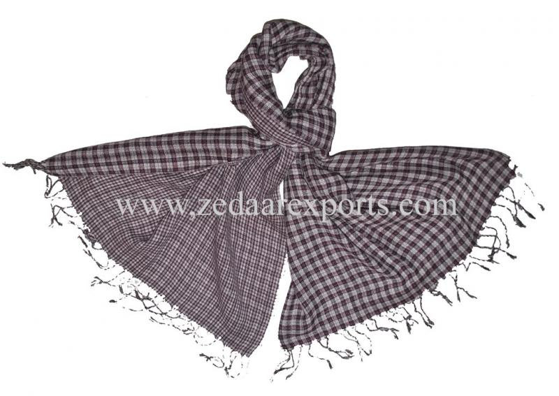 7831 cotton reversible scarf