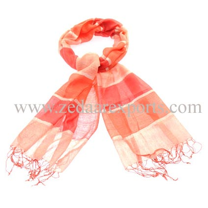 7836 cotton linen scarf
