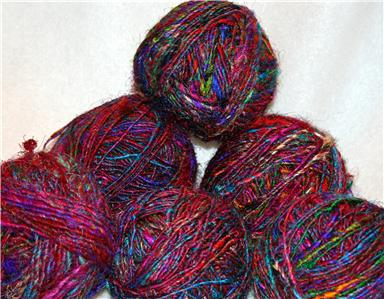 Recycled Silk Yarns